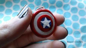 Captain America's Shield Charm by BeppasCreations