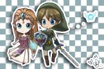 Chibi Zelda and Link by meganekko-bomb
