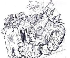 robot vs edificio by diegouhX