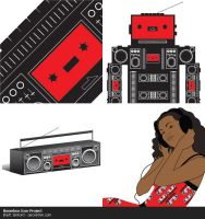 Illustration - Boombox Project by Solaris07