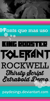 Fonts que mas uso by PayDesings