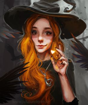 Witchy self portrait by Lambidy