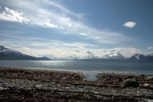 fjord and clouds by detektenavnet