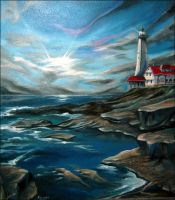 The Lighthouse on the Sea by kimby