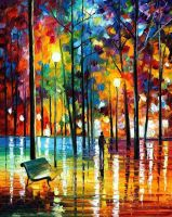 BLUE REFLECTIONS - AFREMOV by Leonidafremov