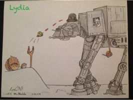 Star Wars Angry Birds - Colored AT-AT by LydMc