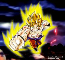 goku 89 colored2 by moncho-m89