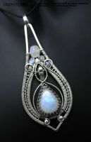 Moonstone teardrop pendant by IMNIUM