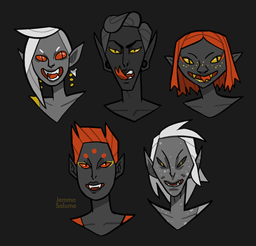 Drow Portraits by oxboxer
