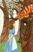Alice meets the Cheshire Cat by lissa-quon