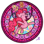 Pinkie Pie Stained Glass by Akili-Amethyst