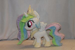 Filly Princess Celestia Plush by KarasuNezumi