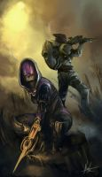Garrus and Tali by Thanen7