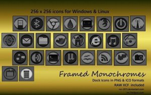 Framed Monochromes - A Simple set of dock icons by rvc-2011