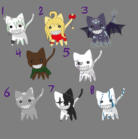 Adoptable Evil Cats by agent-mcmuffin