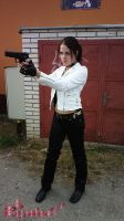 Claire Redfield RE DC Biker cosplay I by Rejiclad
