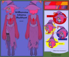 Commish - Willhermina Blackheart Ref casual by shaloneSK