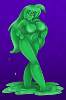Green Slime Girl by AkuOreo