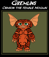 Gremlins - Crimson the Female Mogwai by TheCiemgeCorner