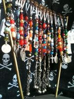 Short Pirate Hair Jewels Strands by CrystalKittyCat