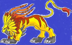 saberleomon side veiw coloured by amy962