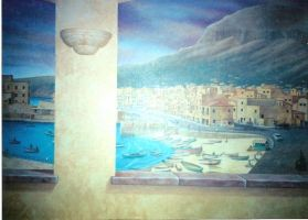 Detail of Sicilian mural by MuralsbyLeBold