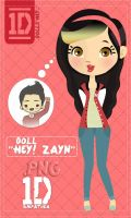 Doll ''Hey Zayn'' .PNG by Simpatiica