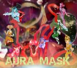 Aura Mask Paper Cut Heroes by LeveyYes