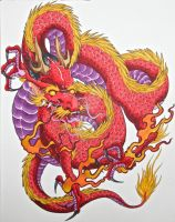 dragon done with markers by graynd