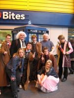 Colin Baker + WHO cosplayers 3 by angelofmusicuk