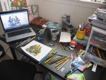 my desk space -if i have any- by havocPigeons