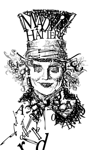 Typography with Mad Hatter by sonokita