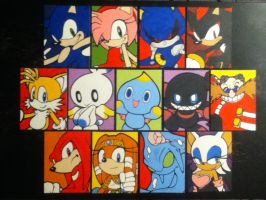 Sonic Adventure 2 paintings by TheScarecrowOfNorway