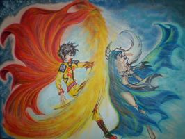 Sun And Moon. Eternal Lovers by XiuhTiger