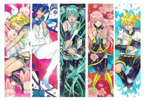 Vocaloid Bookmarks by FranyBerry