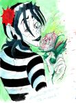 gouache_Je M' Appelle the Mime by cracked139