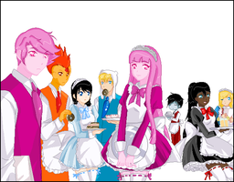 Adventure Time Maids and Butlers with no backg by Angel434