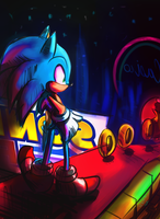 Sonic Geting though by Omiza