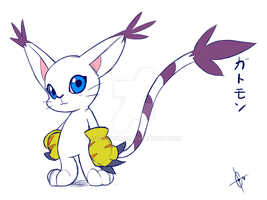 Gatomon art by Great9Star