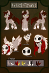 .:B:Wild Spirit Ref Commission:. by CocoamintWhimsy