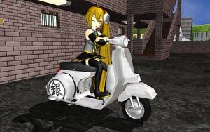 MMD Neru's Vespa by Trackdancer