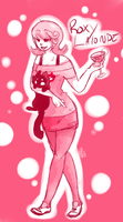 roxy: cats and alcohol. by xBadgerclaw