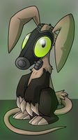IT'S AN AARDVARK WITH A GAS MASK by X--O