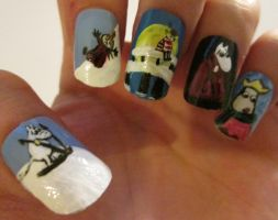 Moominland Midwinter nails set 2 by henzy89