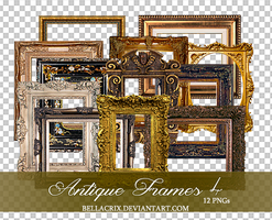 Antique Frames 4 PNGs by Bellacrix