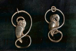 Owl Pendants by Anaealrhan