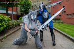 Artorias the Abysswalker + The Great Grey Wolf Sif by TPJerematic