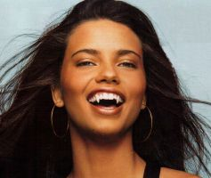 Supermodel Adriana Lima with Vampire Fangs by TurlyVamp