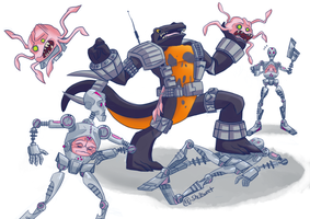 Newtralizer Vs. Kraang by Shellsweet