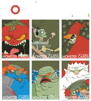MONSTER CARDS - 7 to 12 by vincentbatignole